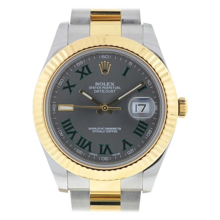 Rolex 116333 Datejust II Two-Tone Slate Dial Automatic Watch For Sale