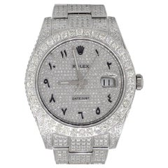 Rolex 116334 Datejust II Diamond Pave Arabic Dial Wristwatch