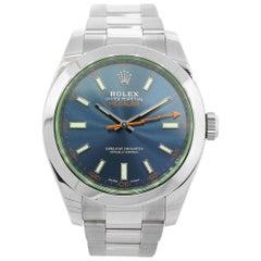 Rolex 116400 Milgauss Oyster Perpetual Blue Dial Watch