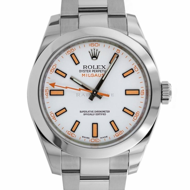 Rolex 116400 V-Serial Milgauss White Dial Stainless Steel Swiss Automatic  Watch