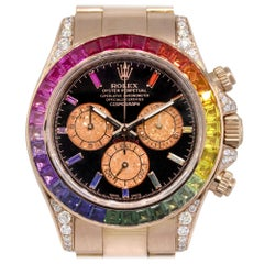 Rolex 116505 Daytona 18 Karat Rose Gold Rainbow Bezel and Dial Watch