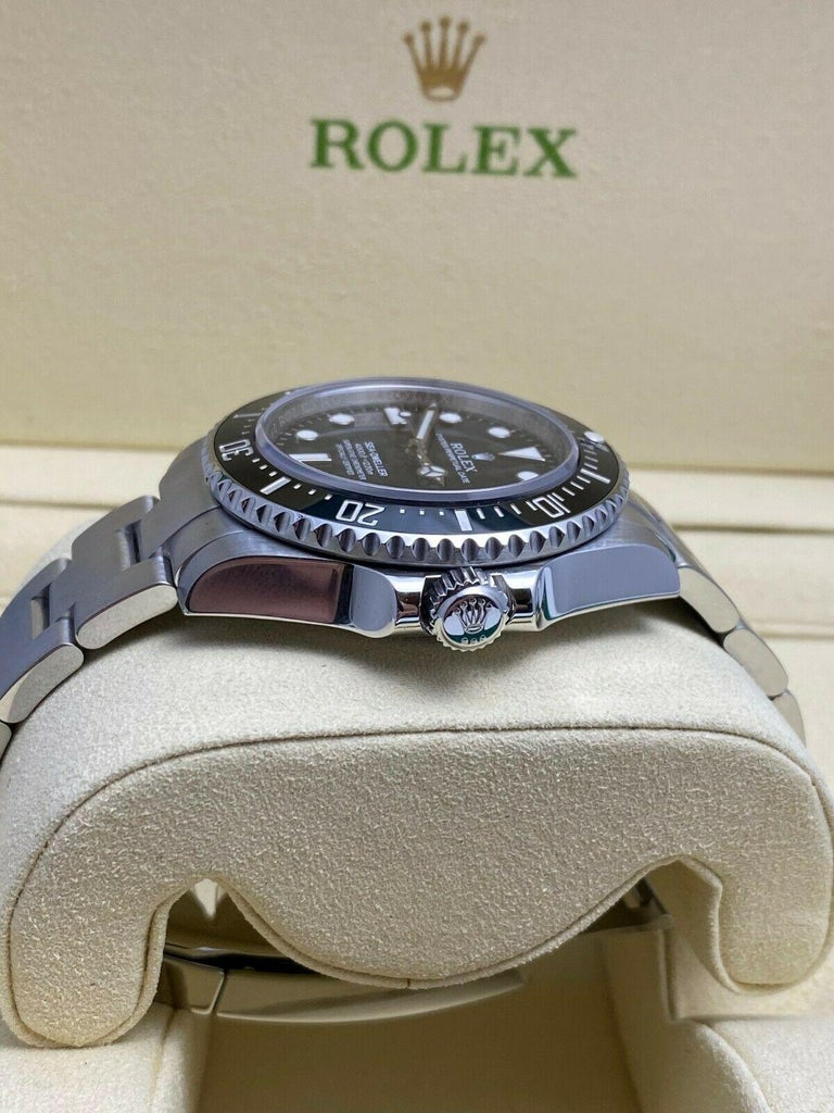 Rolex 116600 Sea Dweller Ceramic Stainless Steel Box Papers, 2015 In Excellent Condition For Sale In San Diego, CA