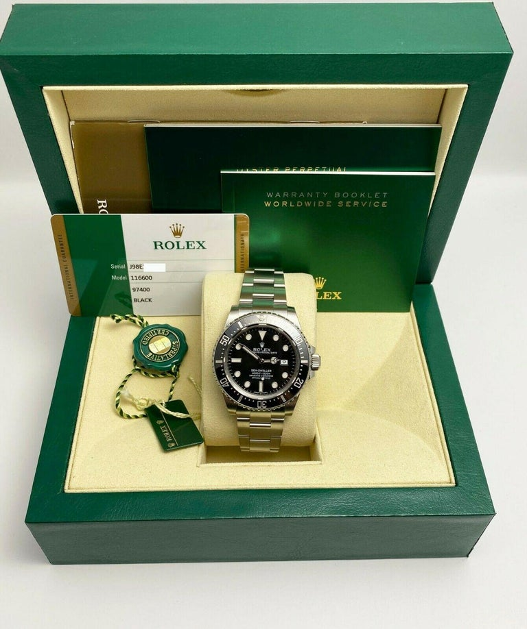 Rolex 116600 Sea Dweller Ceramic Stainless Steel Box Papers, 2015 For Sale 4