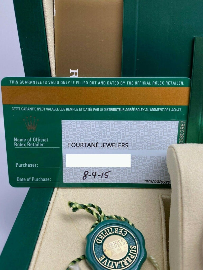 Rolex 116600 Sea Dweller Ceramic Stainless Steel Box Papers, 2015 For Sale 5