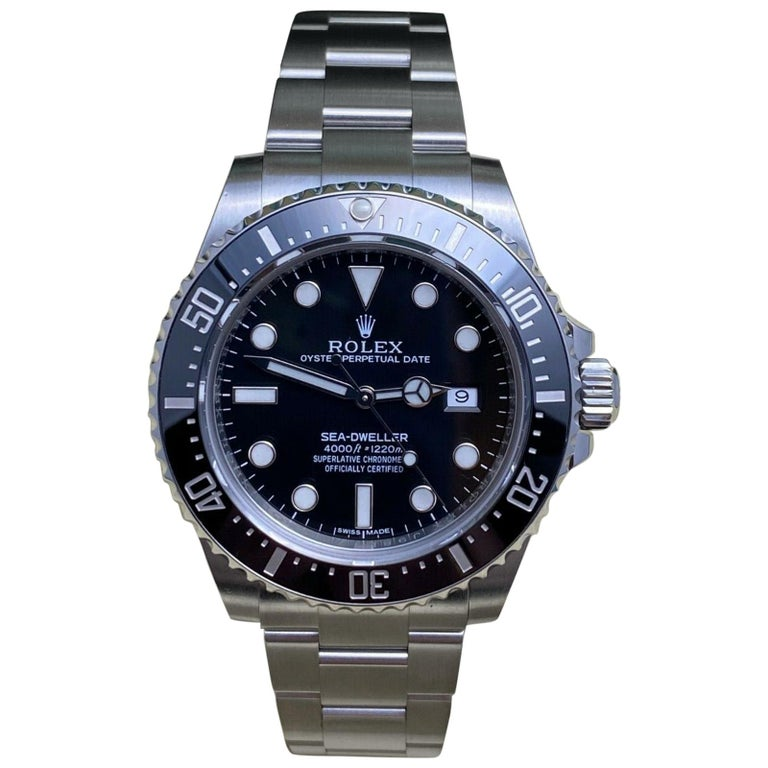 Rolex 116600 Sea Dweller Ceramic Stainless Steel Box Papers, 2015 For Sale