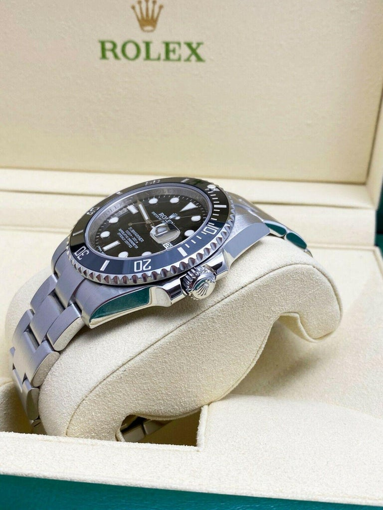 Rolex 116610 Submariner Black Ceramic Bezel Stainless Steel Box Papers, 2014 For Sale 1