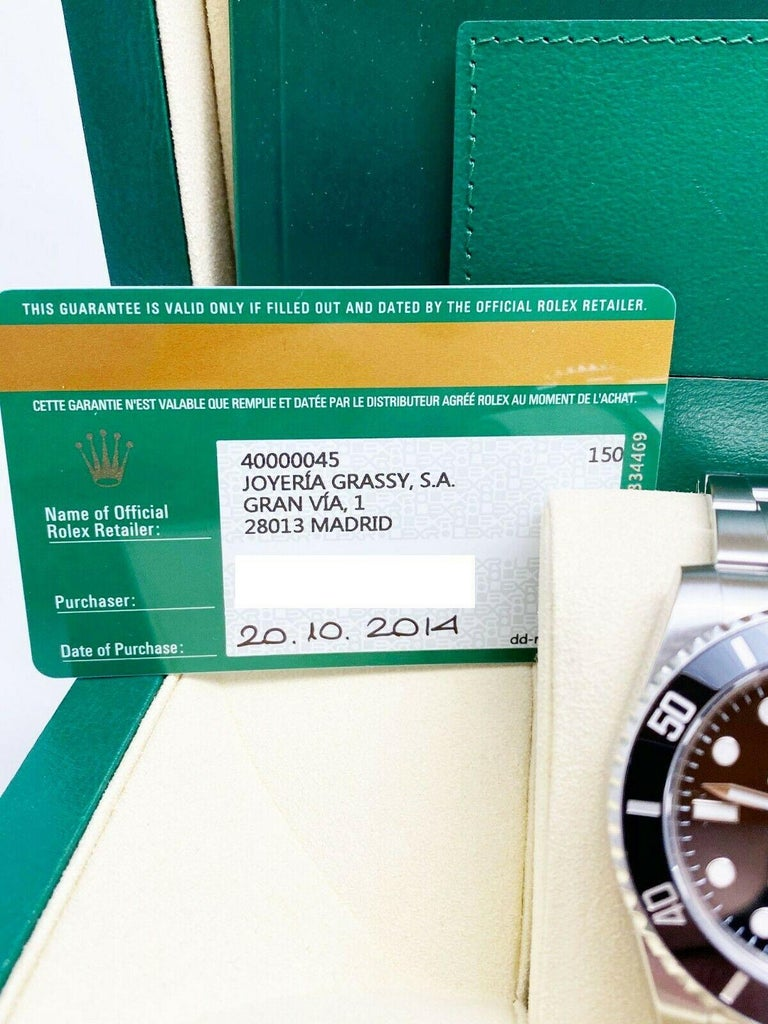 Rolex 116610 Submariner Black Ceramic Bezel Stainless Steel Box Papers, 2014 For Sale 2