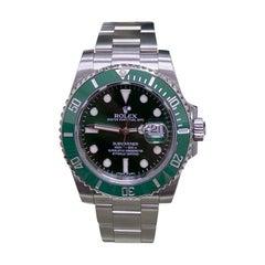 Rolex 116610 Submariner Green Ceramic Hulk Stainless Steel Box Papers 2014