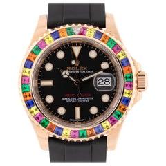 "Rolex 116655 Yacht Master 18 Karat Gold ""Tutti Fruity"" Aftermarket Bezel Watch"