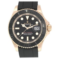 Rolex 116655 Yacht Master Black Dial on Rubber Strap Watch