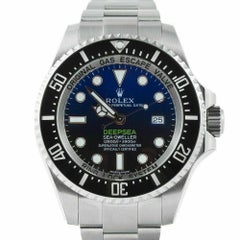 Rolex 116660 Deepsea Deep Blue Sea Dweller Stainless Steel Box and Paper, 2017