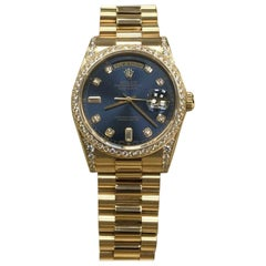 Rolex 118388 President Day Date Diamond Bezel Lugs 18 Karat Gold Box and Papers