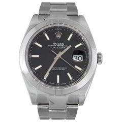 Rolex 126300 Datejust Black Dial Watch