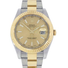 Rolex Yellow Gold stainless steel Datejust II Automatic Wristwatch Ref 116333