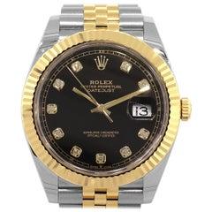 Rolex 126333 DateJust Black Diamond Dial Watch