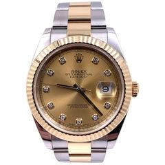 Rolex 126333 Datejust 41 Diamond Dial 18 Karat Stainless Steel Box Papers, 2019