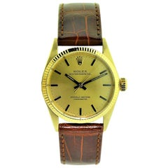 Rolex 14 Karat Solid Yellow Gold Midsize Oyster Perpetual from 1965 or 1966
