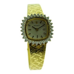 Rolex 14Kt. Solid Gold Ladies Diamond Dress Watch with Box and Papers from 1982