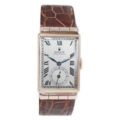 Rolex 14 Karat Solid Rose Gold Art Deco Wristwatch from 1940