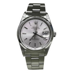 Rolex 15200 Date Silver Dial Stainless Steel Box & Papers & Service Papers, 2003