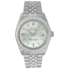 Rolex 1601 Datejust Teal Dial and Diamond Bezel Watch