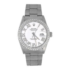 Rolex 16030 Datejust White Diamond Dial Watch