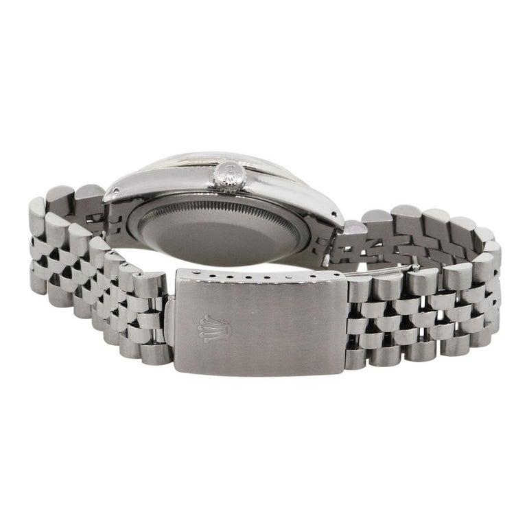 Round Cut Rolex 16220 Datejust Wristwatch For Sale
