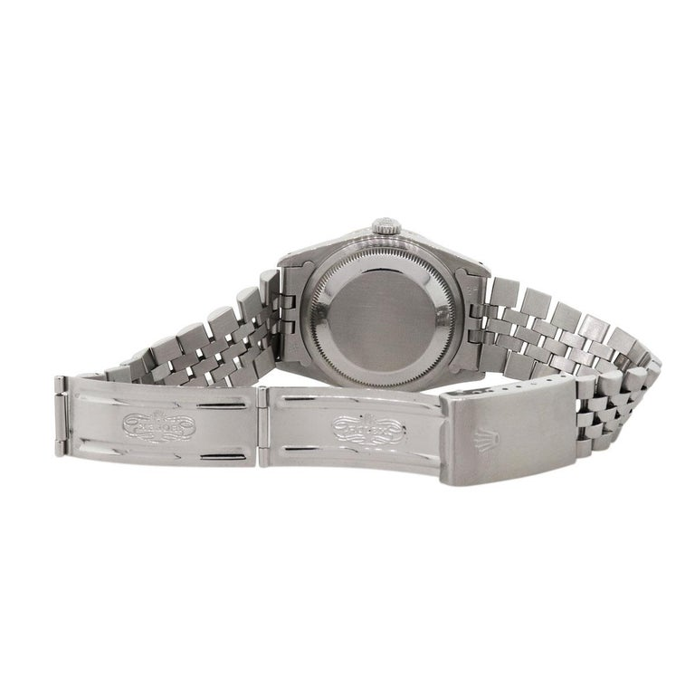 Rolex 16220 Datejust Wristwatch In Excellent Condition For Sale In Boca Raton, FL
