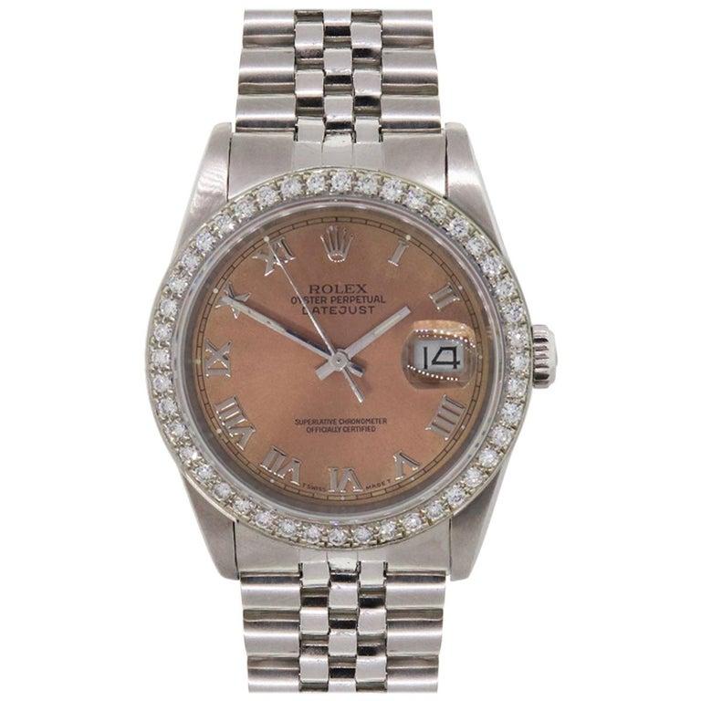 Rolex 16220 Datejust Wristwatch For Sale