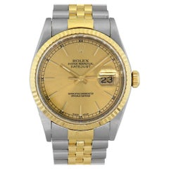 Rolex 16233 Datejust Champagne Dial Watch