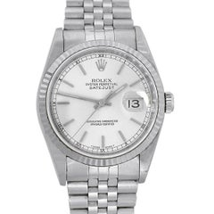 Rolex 16234 Datejust Silver Stick Dial Watch