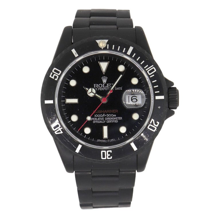Brand: Rolex MPN: 16610 Model: Submariner Case Material: Stainless Steel PVD Coated Case Diameter: 40mm Crystal: Sapphire crystal Bezel: Black Stainless Steel bezel. Scratches can be seen alongside the bezel, please refer to pictures for