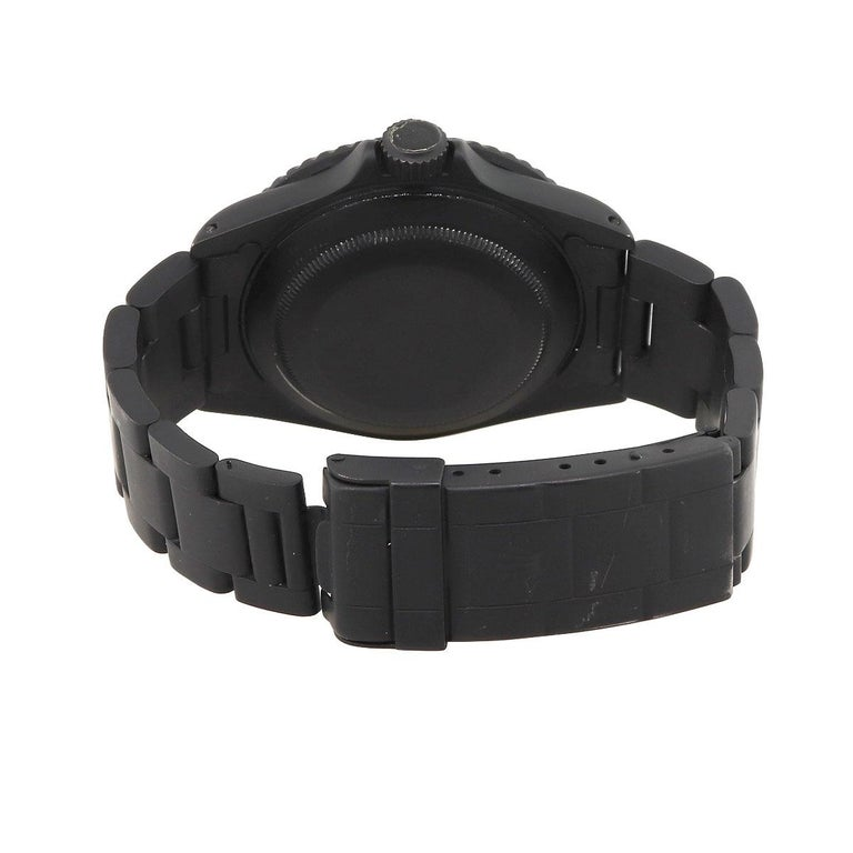 Rolex 16610 PVD All Black Submariner Watch For Sale 1