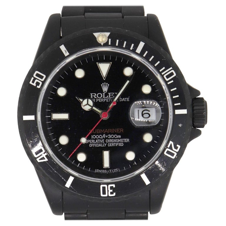 Rolex 16610 PVD All Black Submariner Watch For Sale