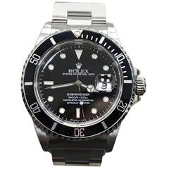 Rolex 16610 Submariner Date Black Dial Stainless Steel