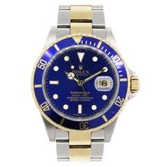 Rolex 16613 Submariner Blue Dial Wristwatch