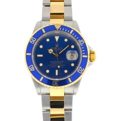 Rolex 16613 Two-Tone Submariner Blue Dial Men's Watch