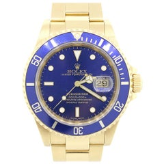 Rolex 16618 Submariner Blue Bezel and Dial Watch