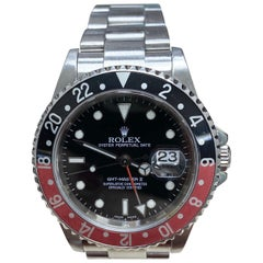Rolex 16710 GMT Master II Coke Black and Red Bezel Stainless Steel 2007