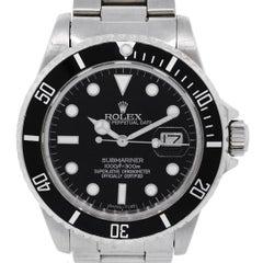 Rolex 16800 Stainless Steel Black Dial Submariner Gents Wristwatch