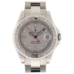 Rolex 168622 Yachtmaster Stainless Steel Platinum Bezel Mid-Size Watch