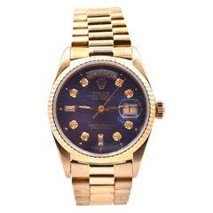 Rolex 18 Karat Day-Date President with Factory Diamond Dial Watch Ref. 18038
