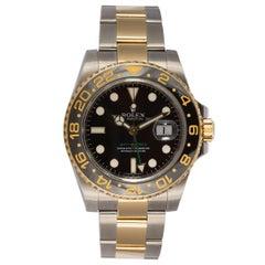 Rolex 18 Karat Gold and Stainless Steel Ceramic GMT Master II 116710