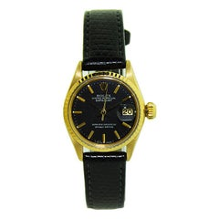 Rolex 18 Karat Ladies Gold Oyster Perpetual President Style from 1969 or 1970