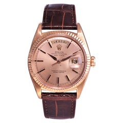 Rolex 18 Karat Rare Rose Gold President Day Date from 1971 or 1972 Ref. 1805