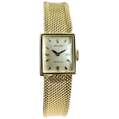 Rolex 18 Karat Solid Gold Manual Winding Ladies Dress Wristwatch, circa 1960s