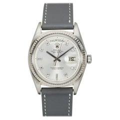 Rolex 18 Karat White Gold Day-Date Ref. 1803 Wristwatch, circa 1963