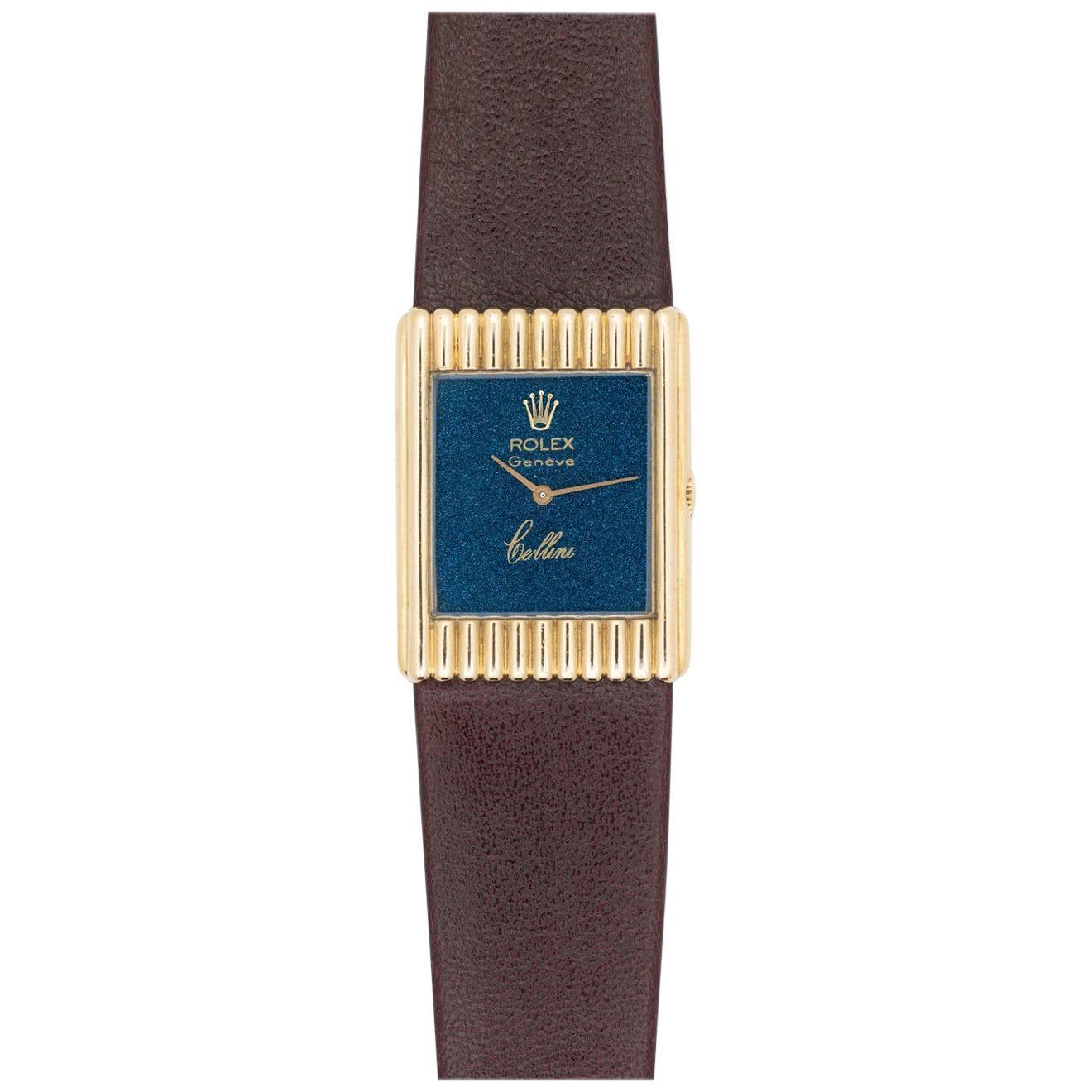 Rolex 18 Karat Yellow Gold Cellini Watch Model 4016, circa 1976