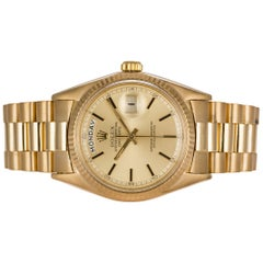Rolex 18 Karat Yellow Gold Day-Date President 1803