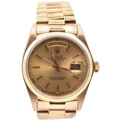 Rolex 18 Karat Yellow Gold Day-Date President